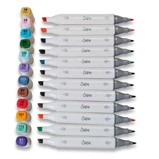Sizzix Accessory Permanent Pens 12PK (Assorted Colours)