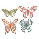Sizzix Thinlits Die Set 4PK Scribbly Butterflies by Tim...