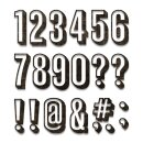Sizzix Thinlits Die Set 21PK Alphanumeric Shadow Numbers...