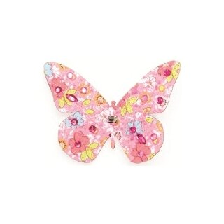 Schmetterling mit Diamond Clip rosa