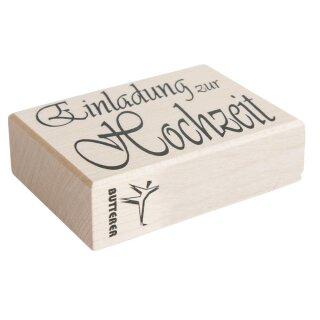 Holz Stempel Einladung Zur Hochzeit, 5x7cm ...