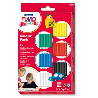 FIMO kids 6 x 42g Colour Pack basic